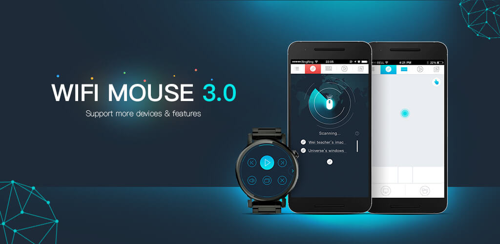 WiFi Mouse - Android phone as mouse and keyboard